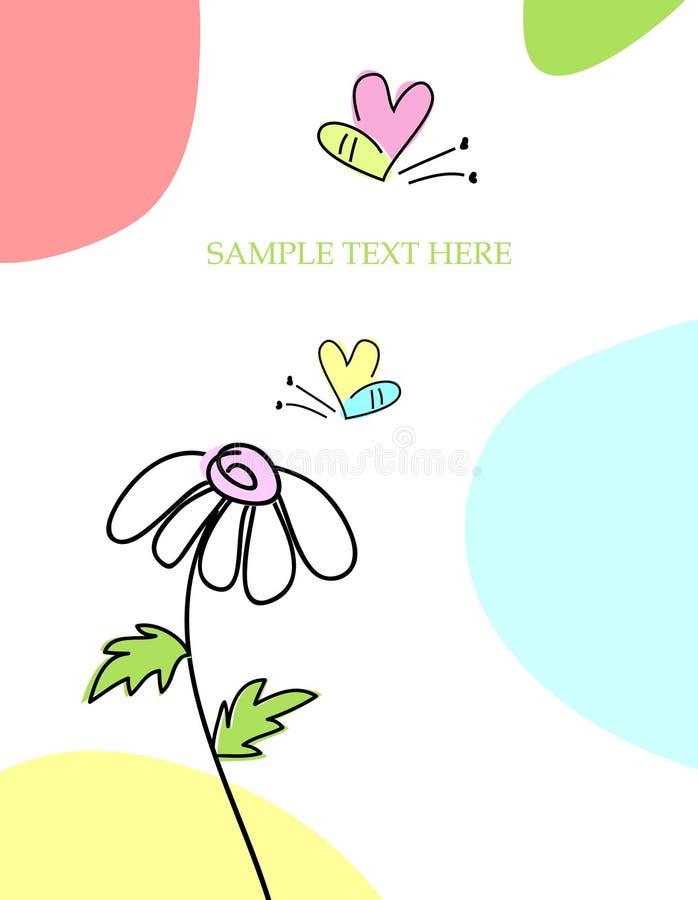 Tarjeta de felicitación con la abeja ilustración del vector