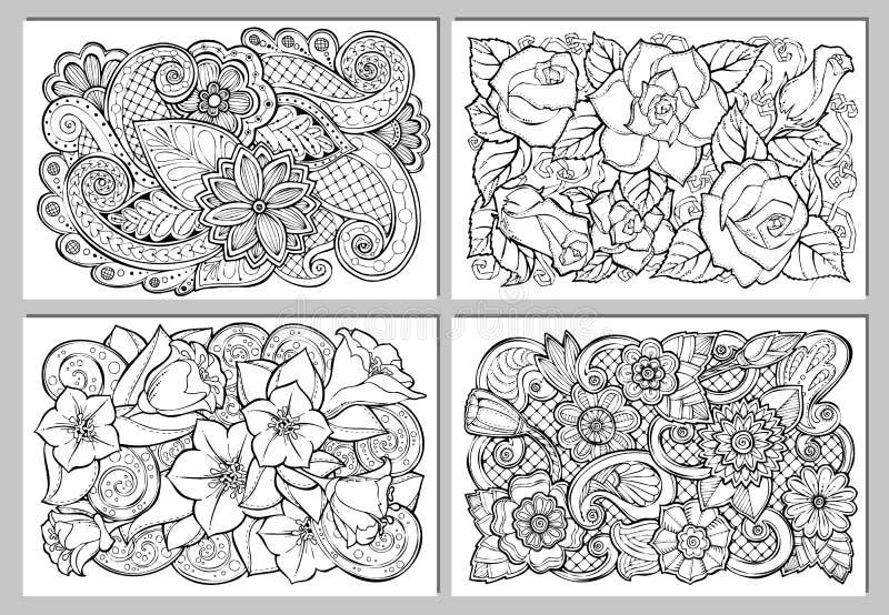 Tarjeta de felicitación con las flores abstractas libre illustration