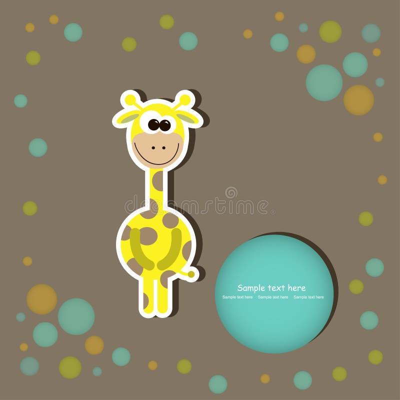 Tarjeta de felicitación con las jirafas lindas. illustrat del vector libre illustration