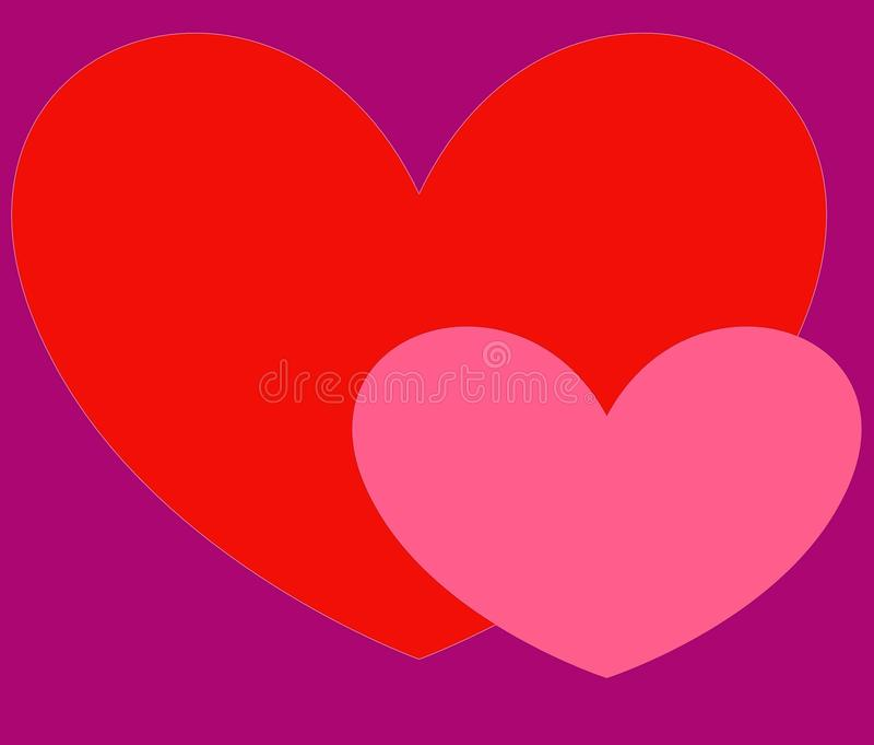 Tarjeta de felicitación con los corazones para el día del ` s de la tarjeta del día de San Valentín libre illustration