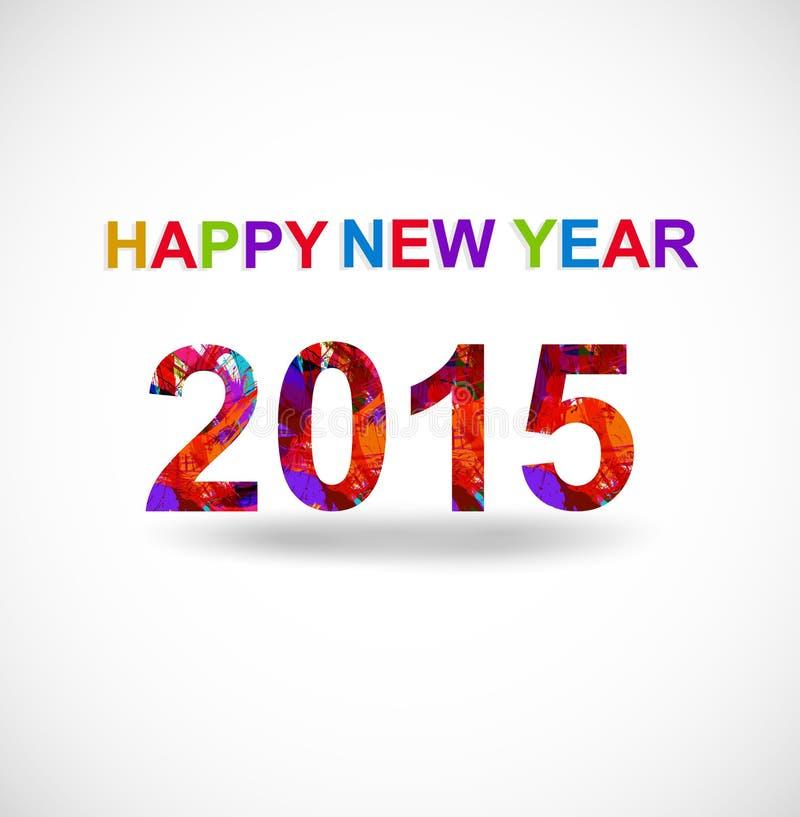 Tarjeta de felicitación creativa del Año Nuevo 2015 ilustración del vector