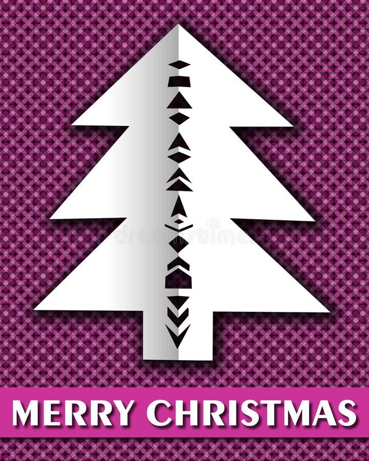 Tarjeta de felicitación de Christmass ilustración del vector