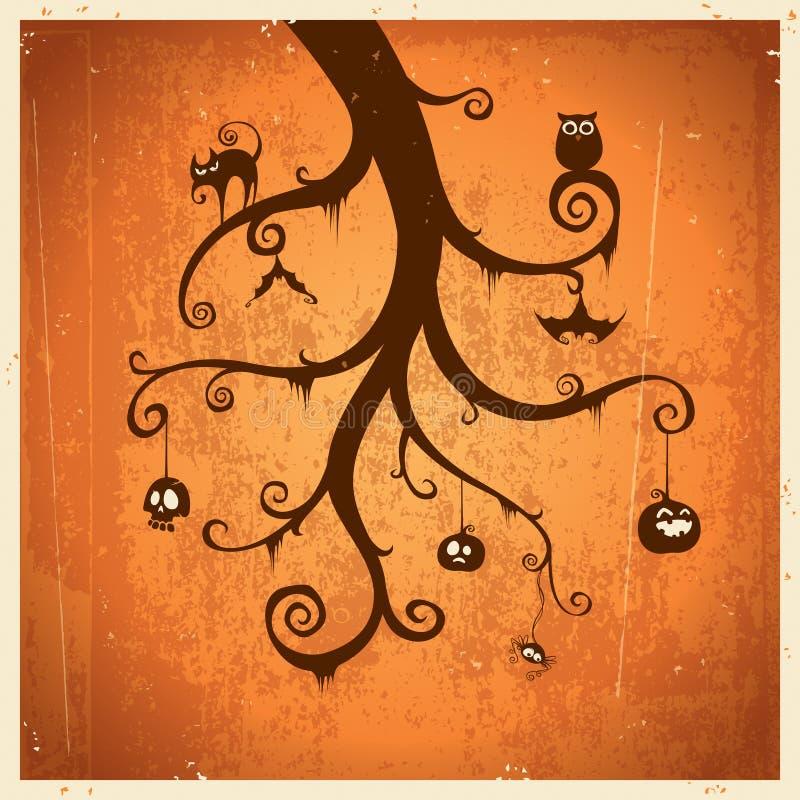 Tarjeta de felicitación de Halloween stock de ilustración