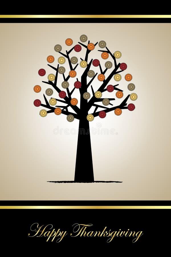 Tarjeta de felicitación de la acción de gracias ilustración del vector