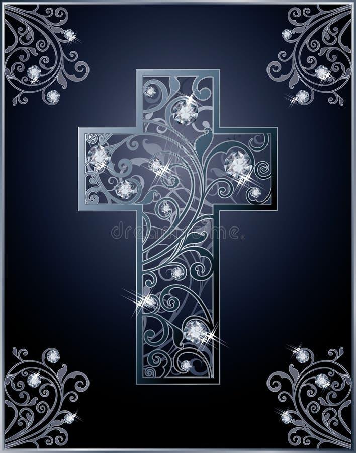 Tarjeta de felicitación de la cruz de Diamond Easter libre illustration