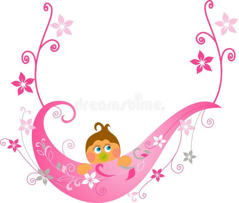 Tarjeta de felicitación de la ducha de bebé libre illustration