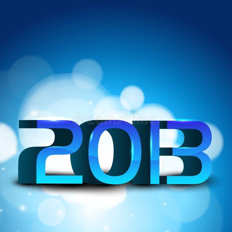Tarjeta de felicitación de la Feliz Año Nuevo 2013. stock de ilustración