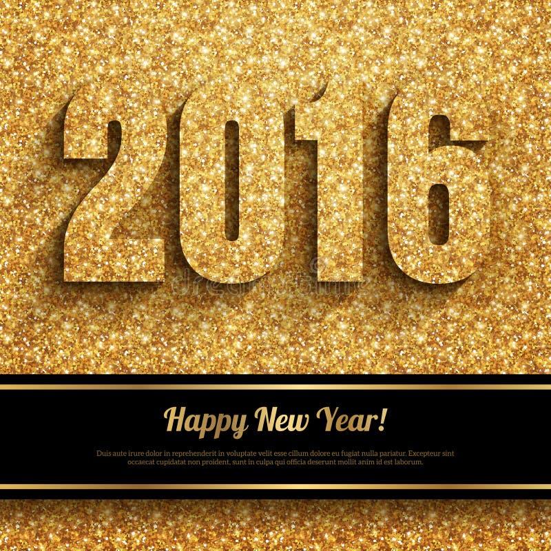 Tarjeta 2016 de felicitación de la Feliz Año Nuevo ilustración del vector