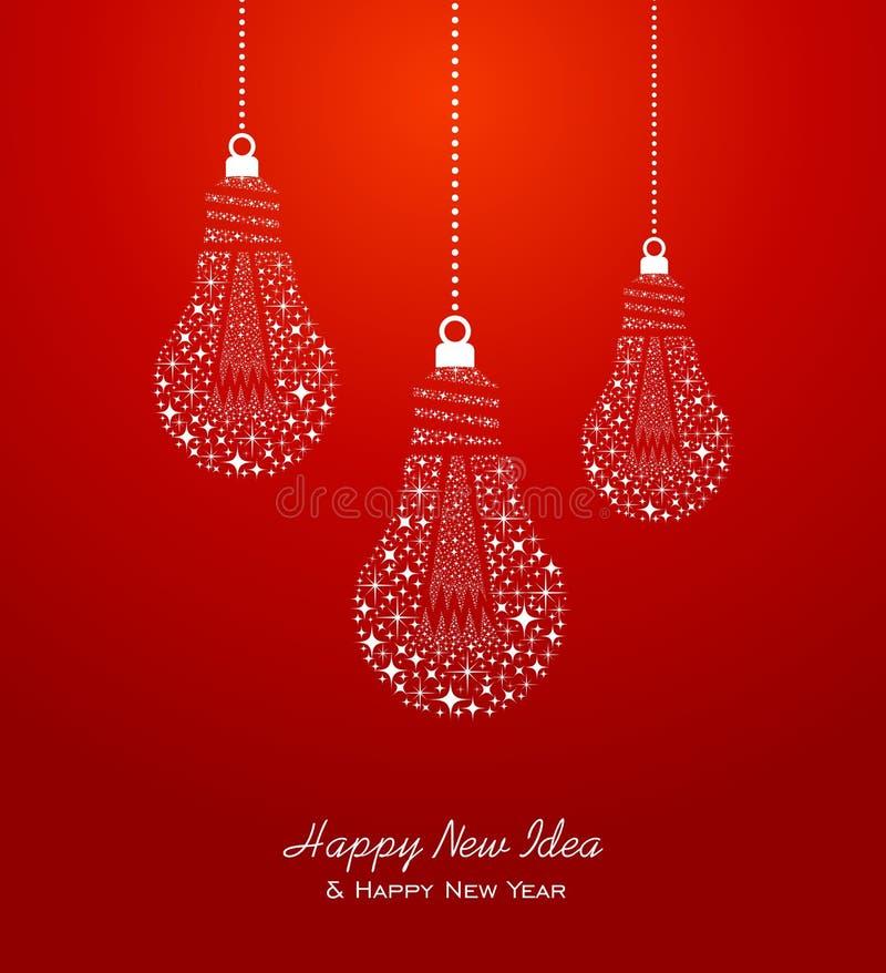 Tarjeta 2014 de felicitación de la Feliz Año Nuevo y de las ideas ilustración del vector
