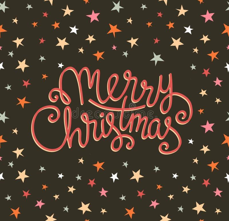 Tarjeta de felicitación de la Feliz Navidad Plantilla del cartel del día de fiesta del vector de la estación ilustración del vector