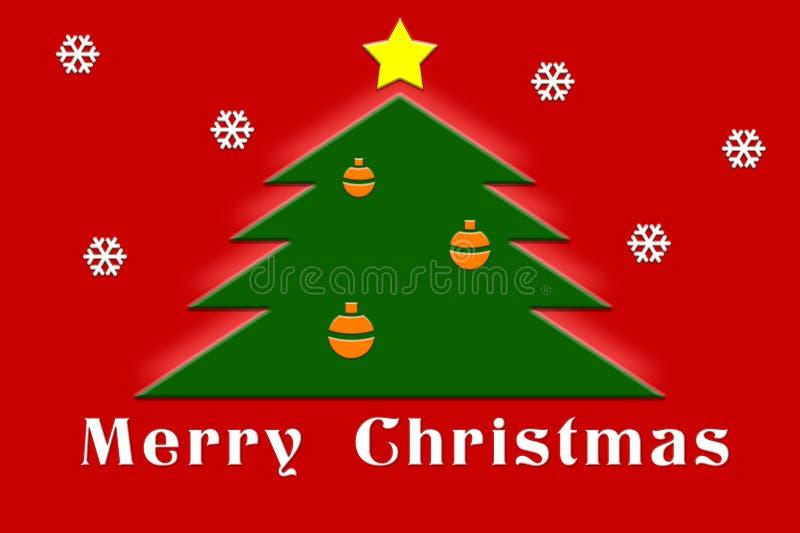 Tarjeta de felicitación de la Navidad imagenes de archivo