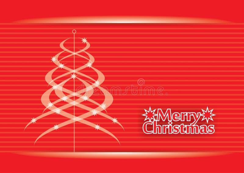 Tarjeta de felicitación de la Navidad ilustración del vector