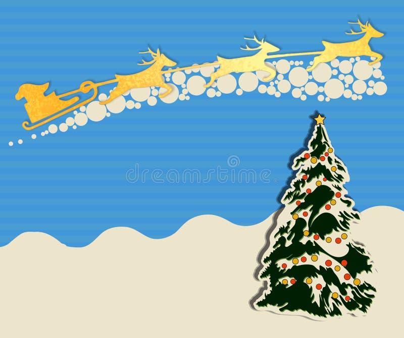 Tarjeta De Felicitación De La Navidad Con El árbol De Navidad ...