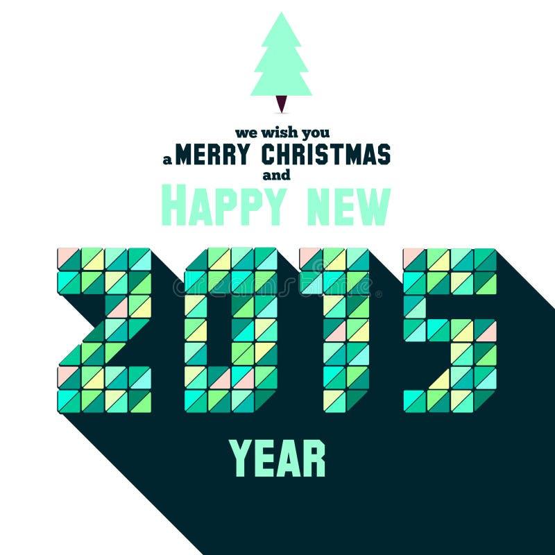 Tarjeta de felicitación de la Navidad con tipografía del mosaico libre illustration