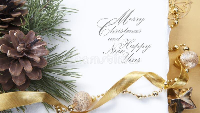 Tarjeta de felicitación de la Navidad del arte foto de archivo libre de regalías