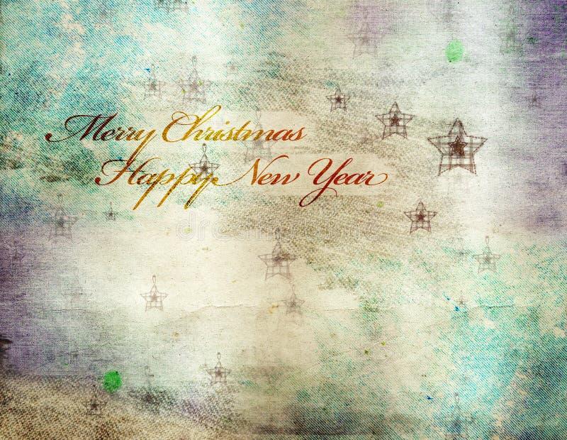 Tarjeta de felicitación de la Navidad del vintage imágenes de archivo libres de regalías