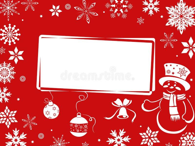 Tarjeta de felicitación de la Navidad en sombras rojas ilustración del vector