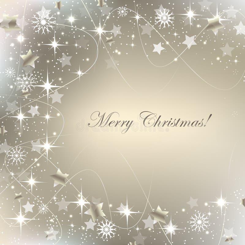 Tarjeta de felicitación de la Navidad, fondo con la decoración libre illustration