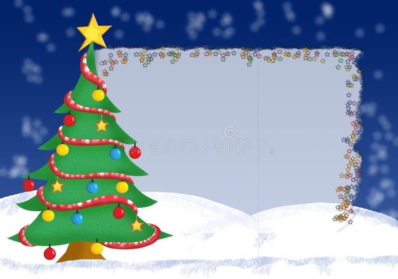 Tarjeta de felicitación de la Navidad - formato a memoria de imagen stock de ilustración