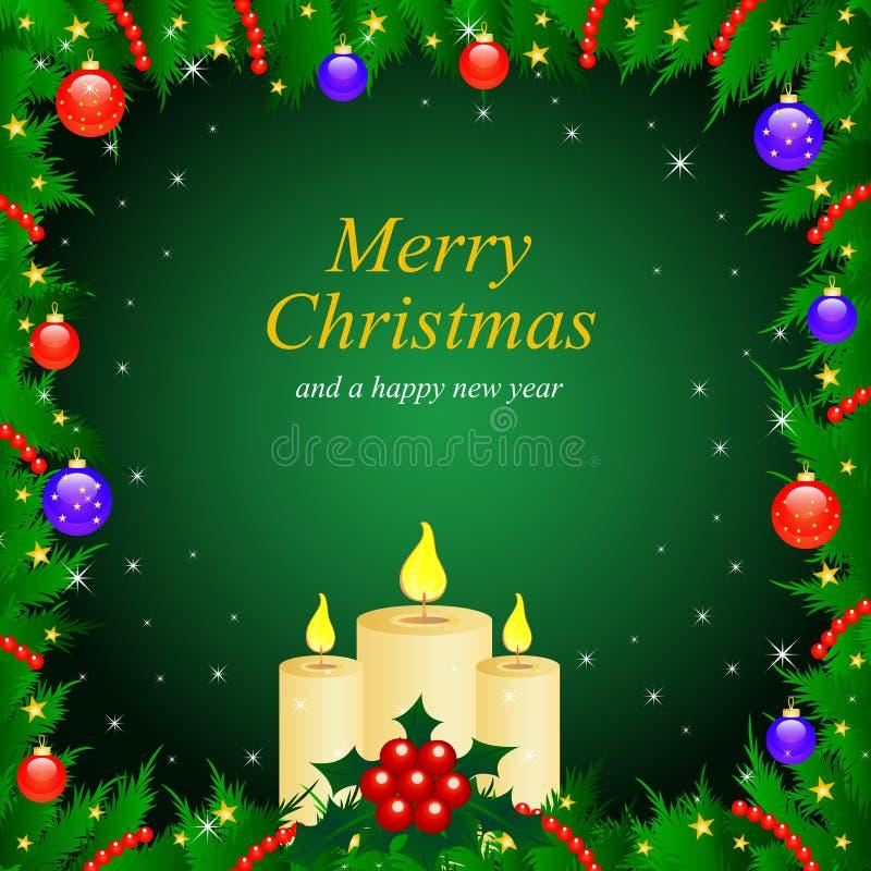 Tarjeta de felicitación de la Navidad y de los Nuevo-Años del vector ilustración del vector