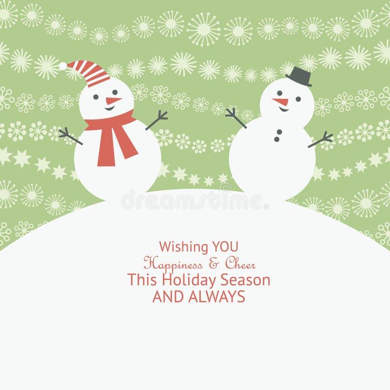Tarjeta de felicitación de la Navidad y del Año Nuevo stock de ilustración