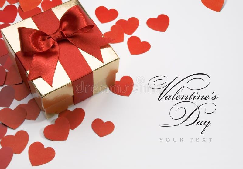 Tarjeta de felicitación de la tarjeta del día de San Valentín foto de archivo libre de regalías