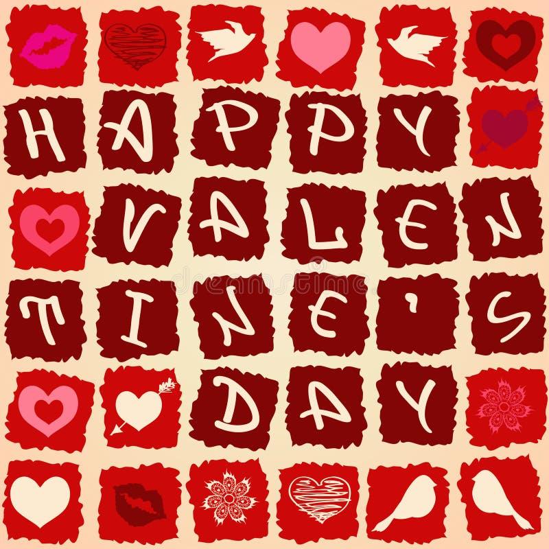 Tarjeta de felicitación de la tarjeta del día de San Valentín o modelo inconsútil libre illustration