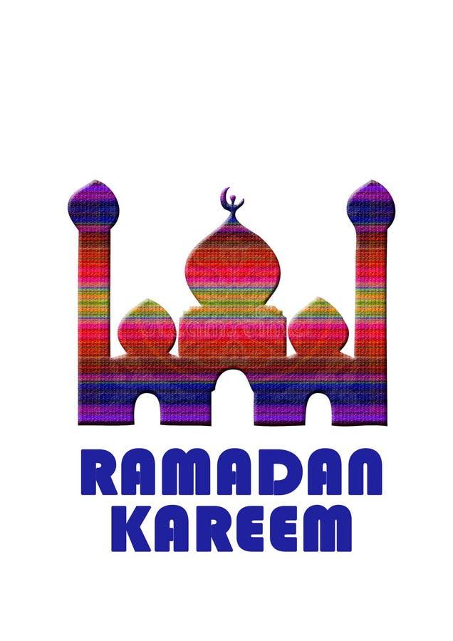 Tarjeta de felicitación de la tarjeta del kareem del Ramadán Ramadan Kareem libre illustration
