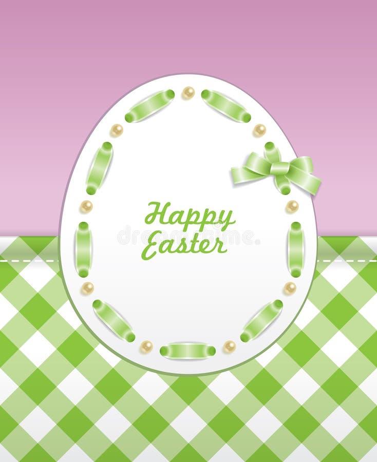 Tarjeta de felicitación de Pascua ilustración del vector