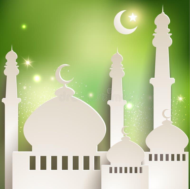 Tarjeta de felicitación de Ramadan imágenes de archivo libres de regalías