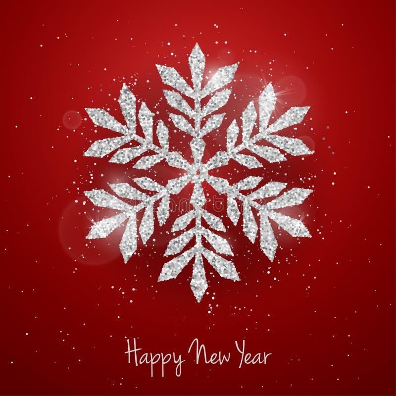 Tarjeta de felicitación del Año Nuevo de la Navidad del vector ilustración del vector