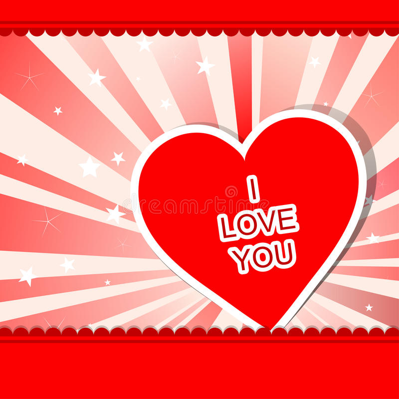 Tarjeta de felicitación del corazón de la plantilla, vector ilustración del vector