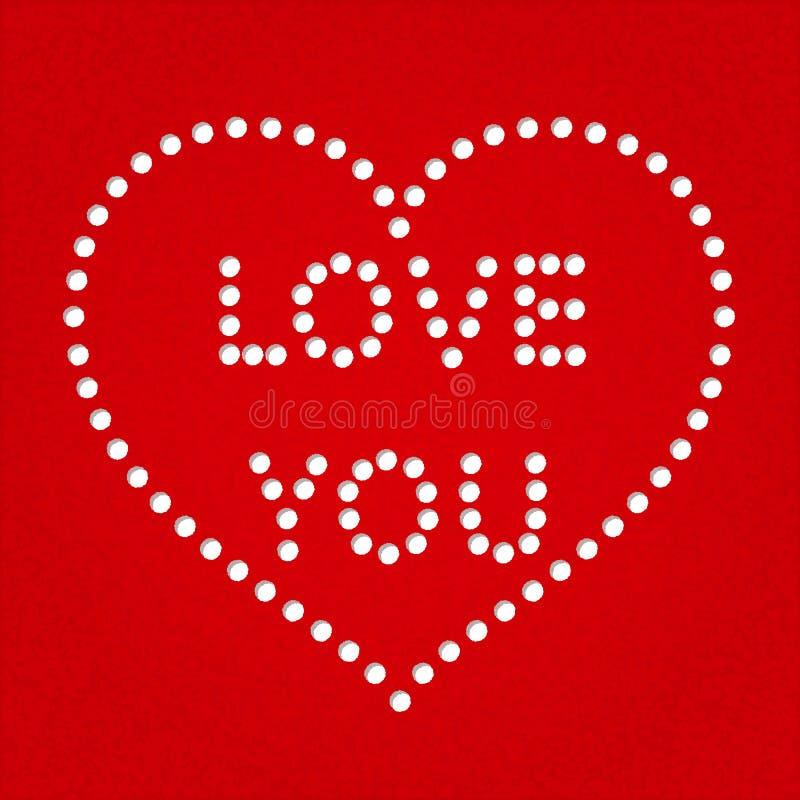 Tarjeta de felicitación del corazón del día de San Valentín imagen de archivo