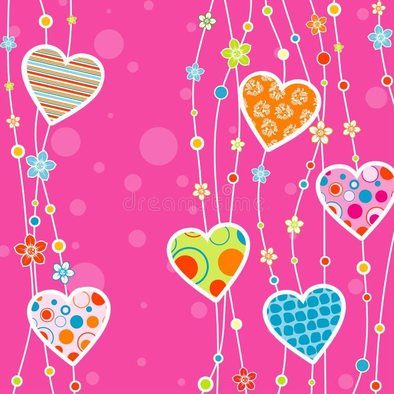 Tarjeta de felicitación del corazón del modelo libre illustration