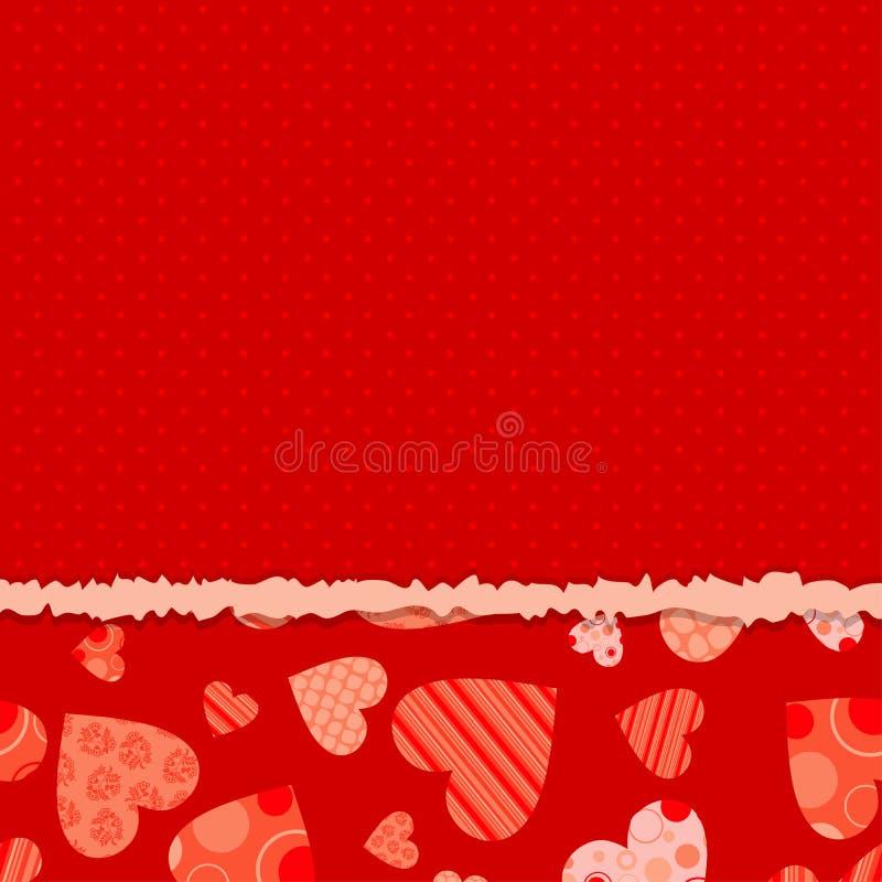 Tarjeta de felicitación del corazón del modelo ilustración del vector
