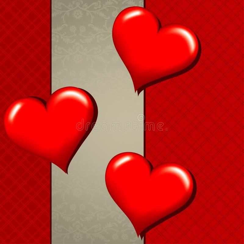 Tarjeta de felicitación del corazón del modelo, vector stock de ilustración