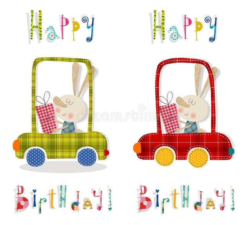 Tarjeta de felicitación del cumpleaños stock de ilustración