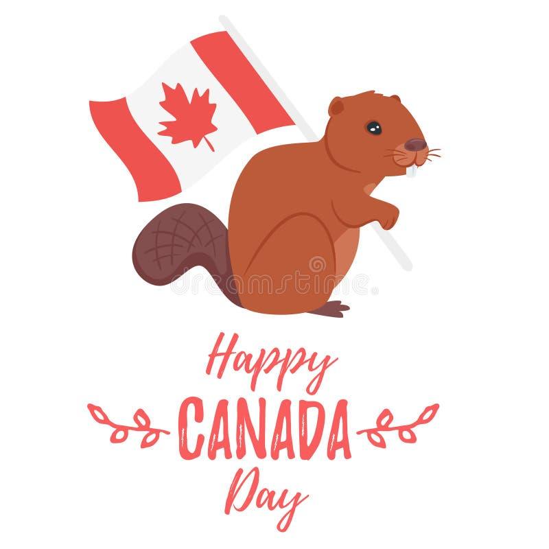Tarjeta de felicitación del día de Canadá libre illustration