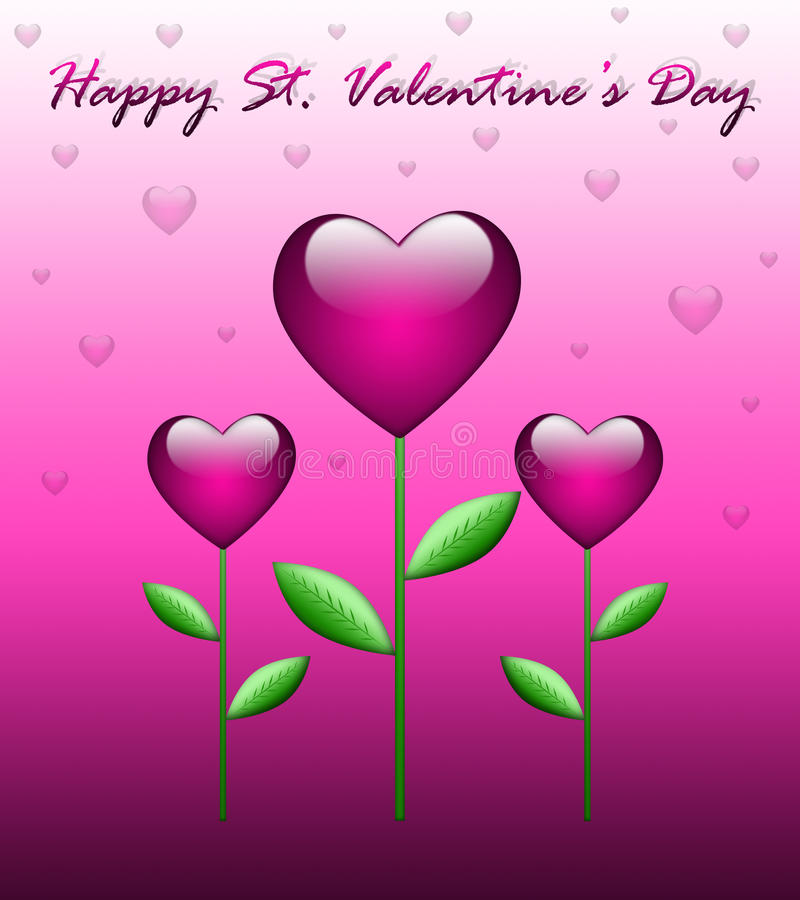 Tarjeta de felicitación del día de tarjeta del día de San Valentín libre illustration