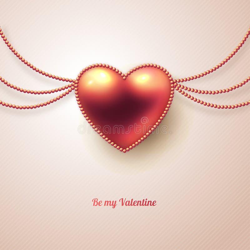 Tarjeta de felicitación del día de tarjeta del día de San Valentín con rosa brillante libre illustration