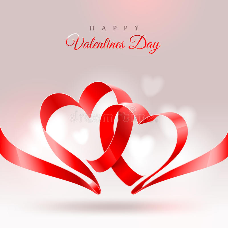 Tarjeta de felicitación del día de tarjetas del día de San Valentín stock de ilustración