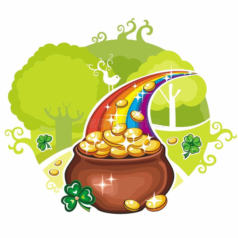 Tarjeta de felicitación del día del St. Patrick ilustración del vector