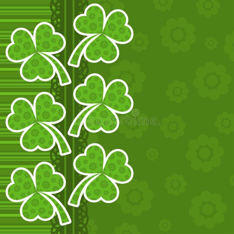 Tarjeta de felicitación del día del St. Patrick del modelo stock de ilustración