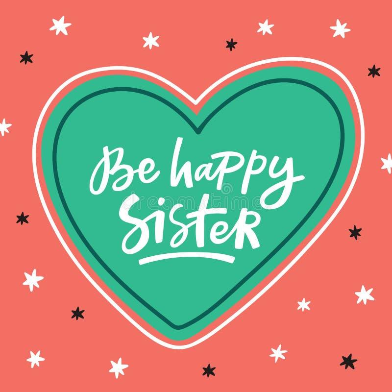 Tarjeta de felicitación del feliz cumpleaños con las letras handdrawn ilustración del vector
