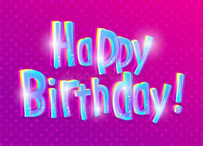 Tarjeta de felicitación del feliz cumpleaños Embroma tema libre illustration