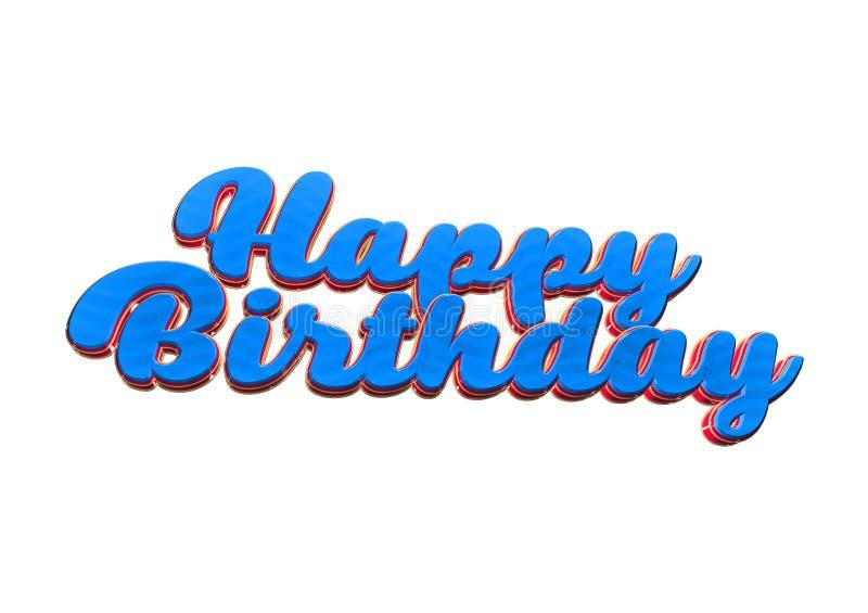 Tarjeta de felicitación del feliz cumpleaños para un partido con deseos ilustración del vector