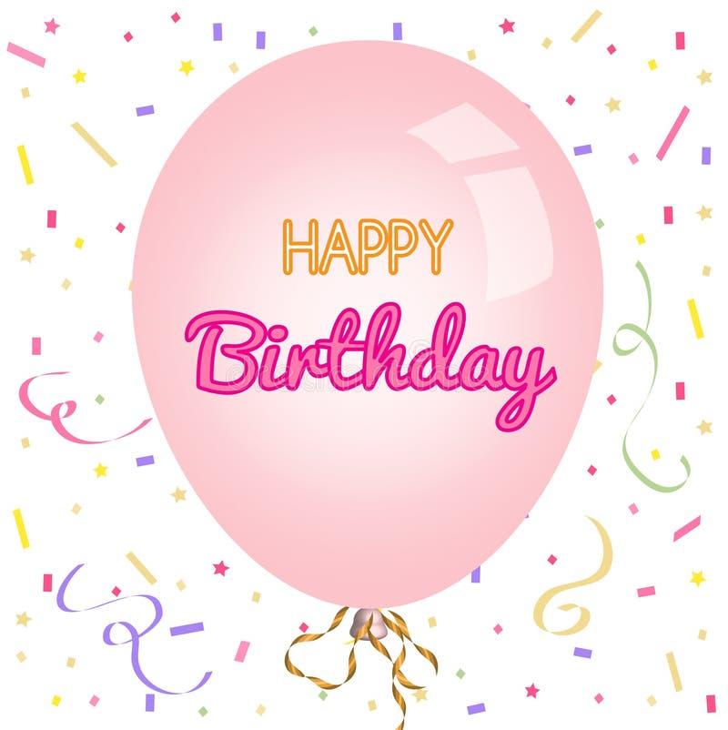 Tarjeta de felicitación del feliz cumpleaños y plantilla de la invitación del partido libre illustration