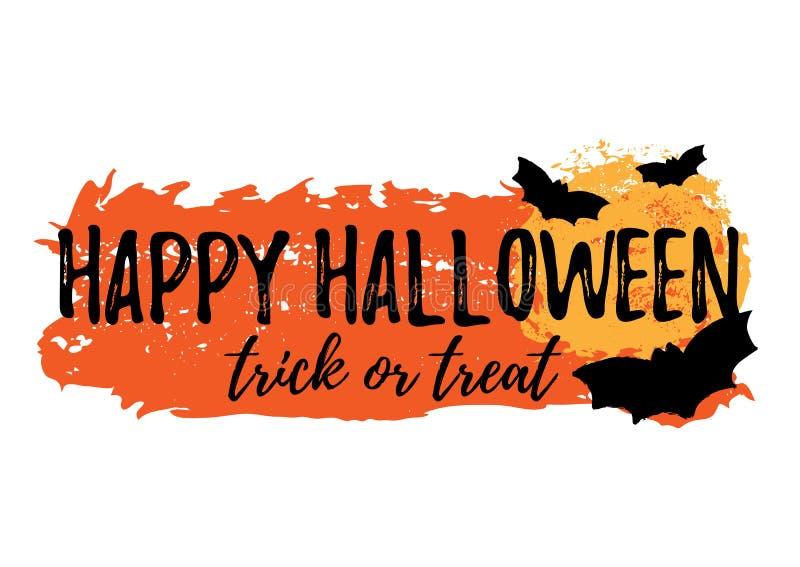Tarjeta de felicitación del feliz Halloween stock de ilustración