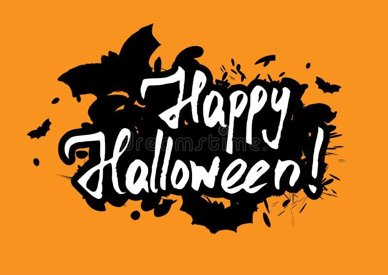 Tarjeta de felicitación del feliz Halloween libre illustration