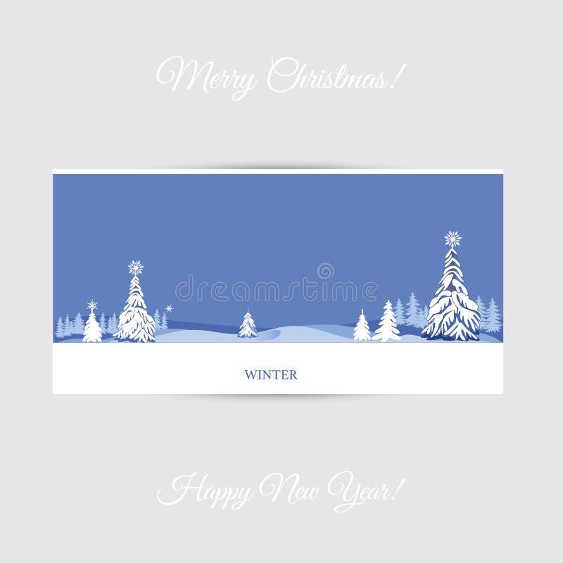 Tarjeta de felicitación del invierno stock de ilustración